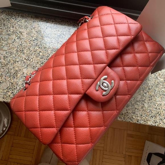 0dfaca7daa0e CHANEL Bags | Classic Flap Caviar Red Vermilion Bag | Poshmark
